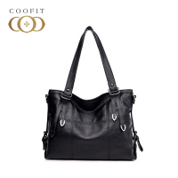 coofit Ladies Tote Bag Punk Fashion Large Capacity PU Leather Lattice Handbag Crossbody Shoulder Bag Woman Bag Bolsos Mujer New