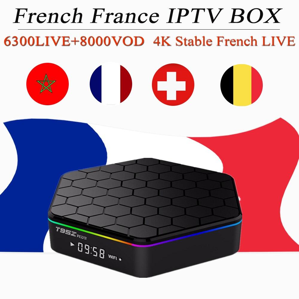 french iptv box t95z plus android tv box football arabic france belgium uk Spain Switzerland iptv