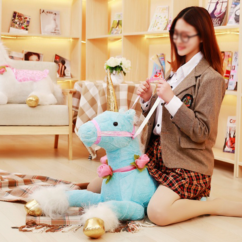 Precioso unicornio de 90 cm de felpa juguetes gigante de peluche unicornio Animal suave muñeca niños habitación decoración bebé foto accesorios para niña niño regalo-in Peluches y muñecos de peluche from Juguetes y pasatiempos    2
