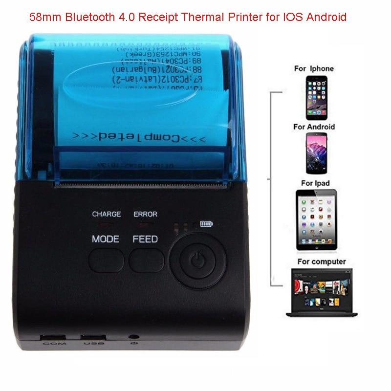 Ootdty Портативный получения метки Принтеры Bluetooth 4.0 Android 4.0 pos Термальность принтер Билл машины EU/US/UK plug ...