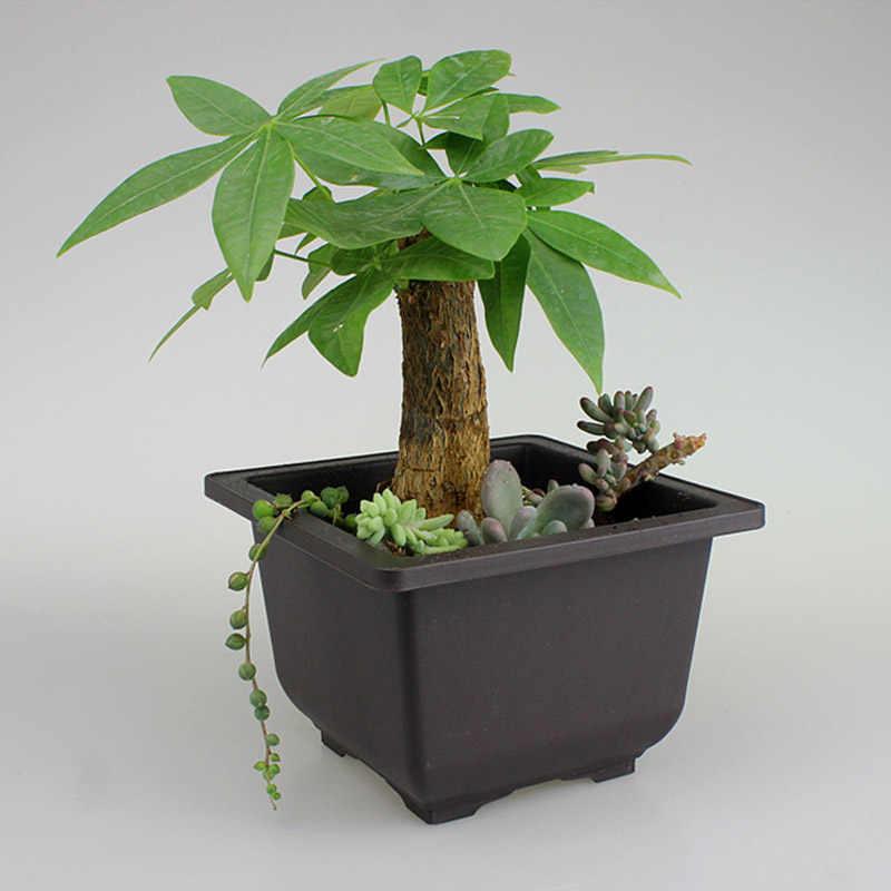1 pcs Fontes Do Jardim Bonsai Suculentas Vaso de Flores de Plástico Berçário Potes Retro Vaso Decorações Varanda Maceteros Decorativos