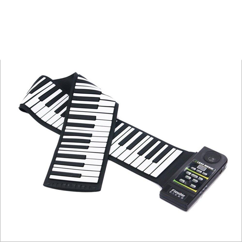 Multi Style Portable 88 Touches Piano Flexible En Silicone Roll Up Piano Pliage clavier électronique pour Enfants Étudiant Chaude livraison directe - 4