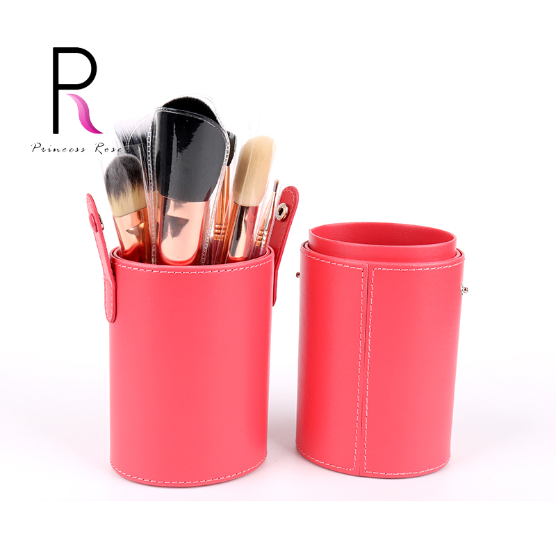Princess Rose 12pcs Rainbow Makeup Brush Set Make Up Brushes Pincel Maquiagem Kit Pinceis Pinceaux Maquillage + Brush Holder 12pcs face blending brush makeup brushes set cosmetic make up tools with holder maquillage kit professional pincel de base bl333