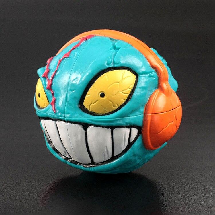HOWPLAY mad balls Devil head Hedz magic Cube toys crazy Halloween gifts Boy toy Christmas gift Irregular Magic Cube Souptoys