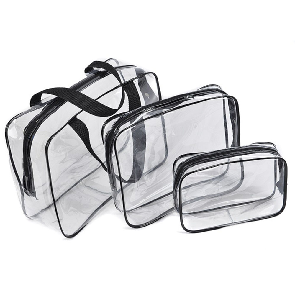 Transparent PVC Bags Travel Organizer Clear Makeup Bag Beautician Cosmetic Bag Beauty Case Make Up Pouch Wash Bags