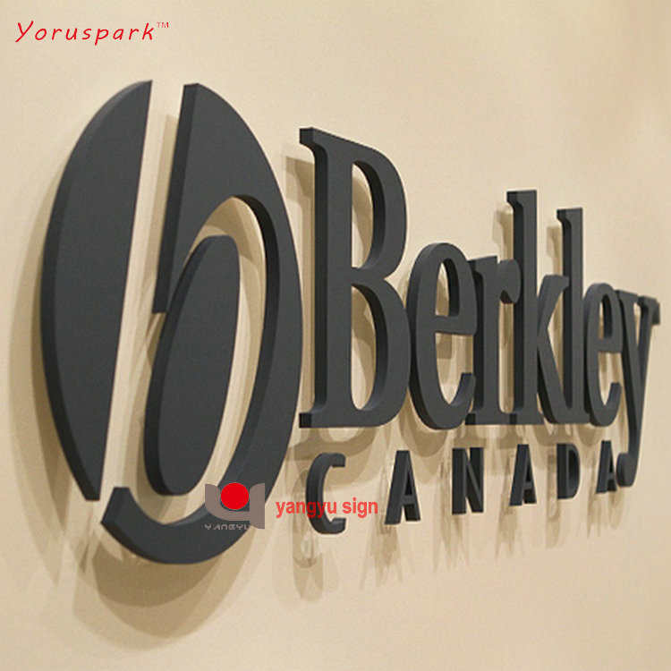 Customized 3D laser cut metal sign letter