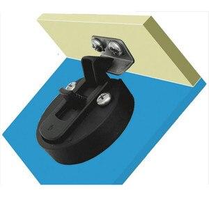 Image 5 - 4 adet sıcak satış siyah yuvarlak güverte kilit gömme çekme Slam mandalı kaldırma kolu tekne deniz mandalı RV güverte kapak kapı değiştirme
