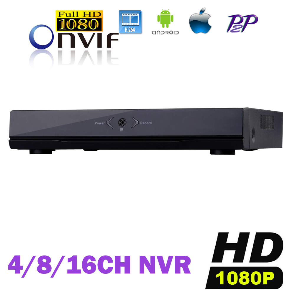 ФОТО CCTV NVR IP DVR 4CH 8CH 16CH Full HD 1080P H.264 Network Video Recorder P2P ONVIF Security Surveillance NVR Mobile Phone View
