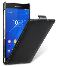 Case for Sony Xperia Z3 D6653 Handmade Genuine Leather Case Up and Down Open luxury Ultra Slim Flip Cover