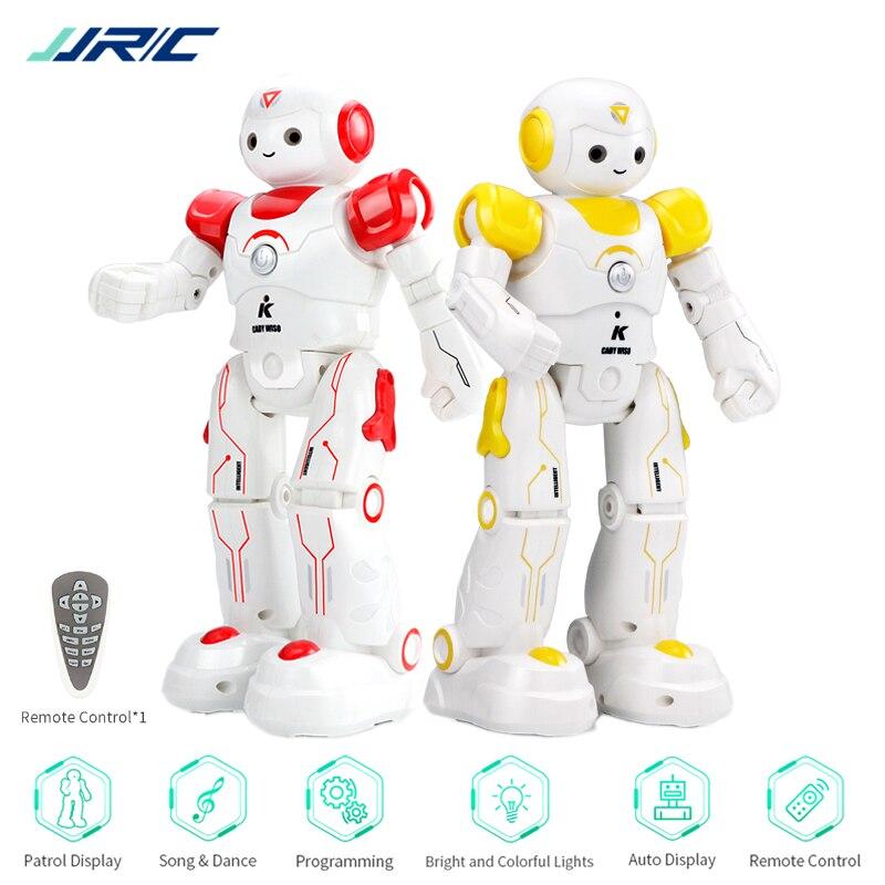 JJRC R12 Robot Toy Programmable Walking Music Dancing Lighting Educational Intelligent Robot For Children Robo Kids Robotica Kit