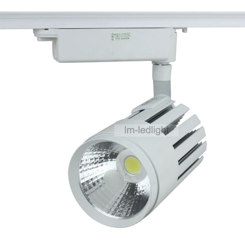 Dimmable Led Track Light 30W USA Bridgelux Chip Spotlight
