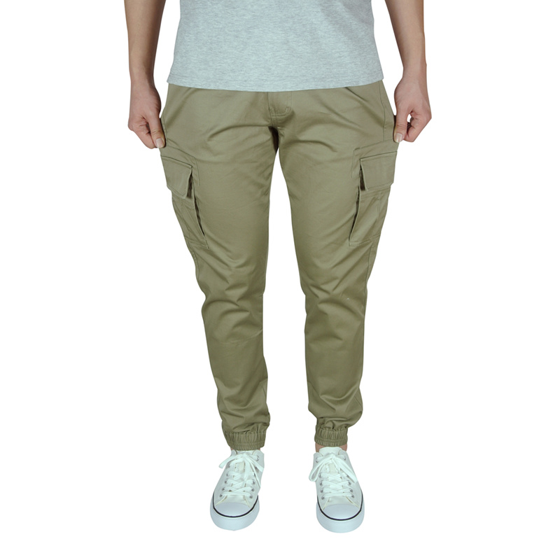 f941f25ee54e Mens Joggers Summer Thin Fabric Stretch Elastic Khaki Cargo Jogger Pants  Men Fashion Pockets Casual Pencil Cuffed Cotton Trouser-in Skinny Pants  from Men s ...