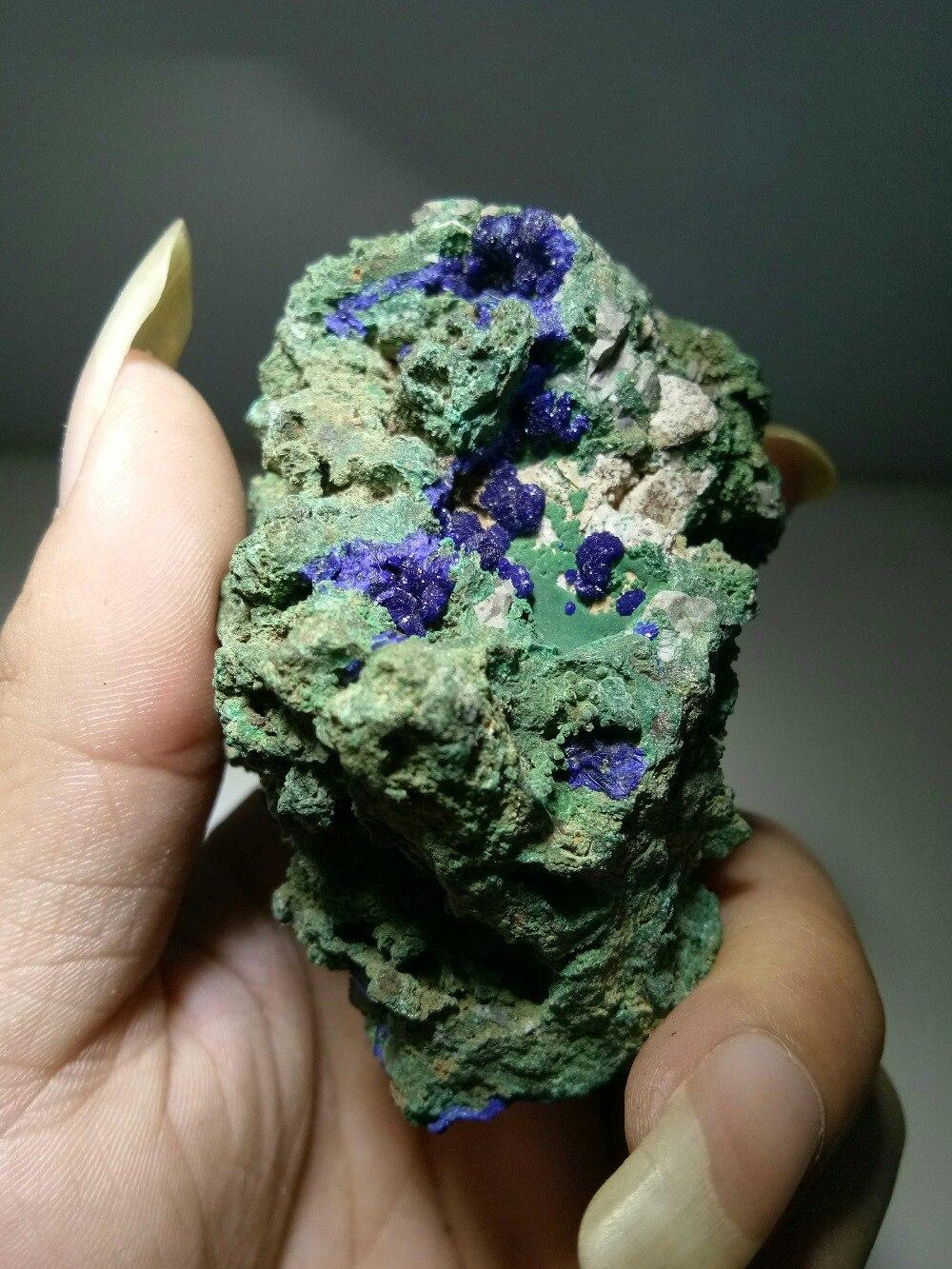 Pierres naturelles minéraux roche Malachite AzuriteCrystal échantillons minéraux Quartz cristal gemme pierre minerai échantillon collection