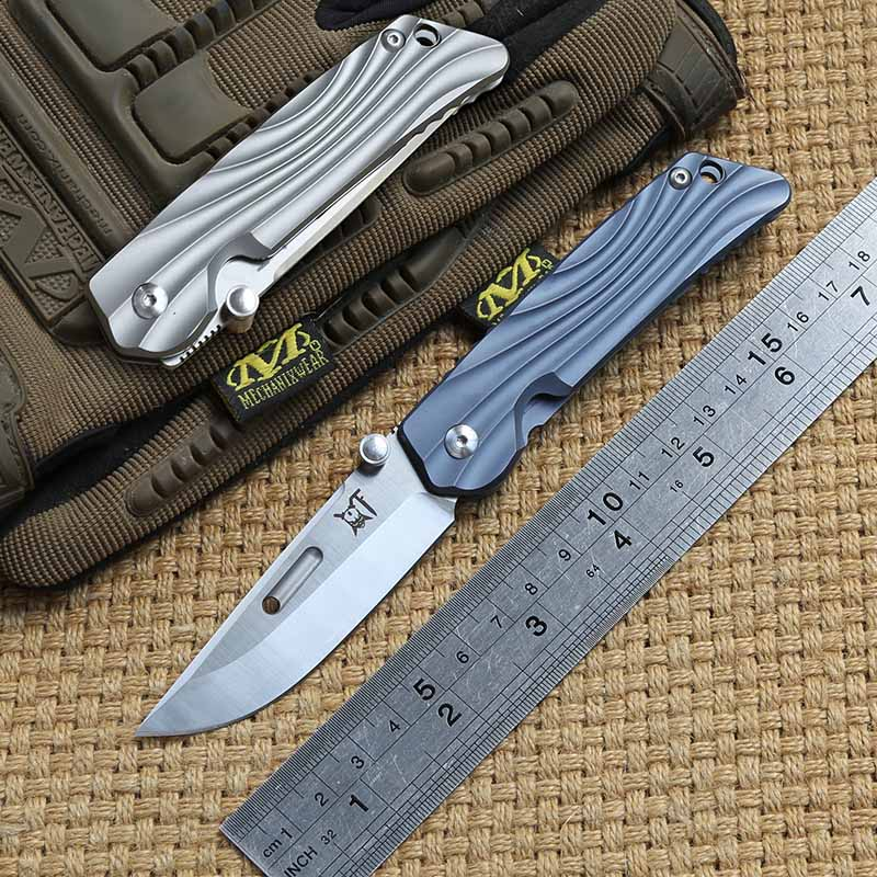 DICORIA ROCKSTEAD M390 blade Tactical folding knife Titanium handle outdoor gear camping hunting Survival pocket knives