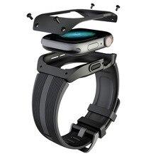 Силиконовый ремешок для часов TPU чехол для Apple Watch Series 4 44 мм Полная рамка Защита экрана для IWatch Series 4 44 мм ремешок для часов