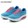 2017 Women's Running Shoes Platform Sneakers Shoes for Women Swing Wedges Shoes Breathable trainers ST44
