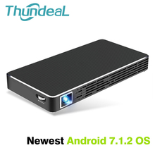 Thundeal T15 Mini DLP Projektor Android 7.1 WiFi Bluetooth Batterie Projektor 3D Unterstützung Full HD 1080 P Mobile Pico Smart Beamer