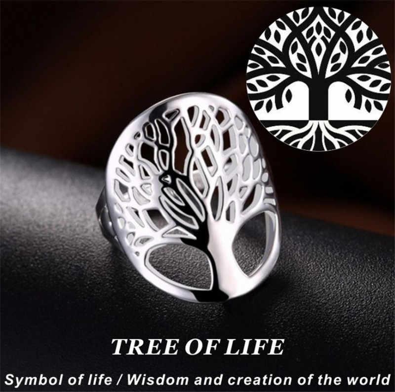 2018 Wishing Tree Anhänger Baum des Lebens Halskette 925 Schmuck Silber Halskette und Anhänger Baum des Lebens Weihnachten Geschenke Sets 4Pc