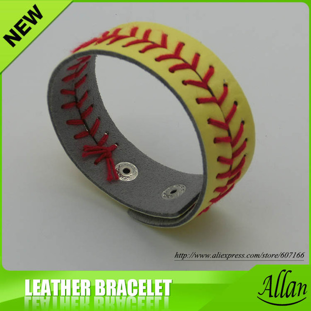150pcs Softball Seam Bracelets Yellow High Quality