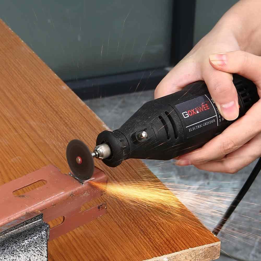 GOXAWEE חשמלי מיני יד תרגיל רוטרי כלים מתכת עץ חרט מטחנת ליטוש מכונת עבור Dremel 4000 כוח כלים