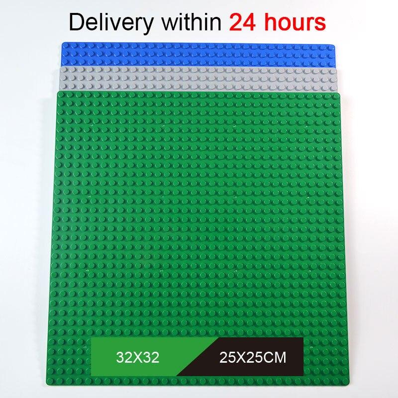 Kazi Klassische Basis Platten Kunststoff Ziegel Baseplates Kompatibel Legolye Großen Marken Bausteine Bau Spielzeug 32*32 Punkte
