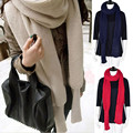 2017 Fashion Woman Scarves Shawls Women Scarves Solid Sleeves Scarf Winter Warm Knitting Long Soft Wraps Scarves Novelty