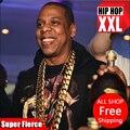 Bijouterie 24 K chapado en oro de Super cadena w1. 6 cm 1 metro largo Jay-Z cubano cadena de eslabones Hiphop collar de cobre FRANCO de joyas de la cadena