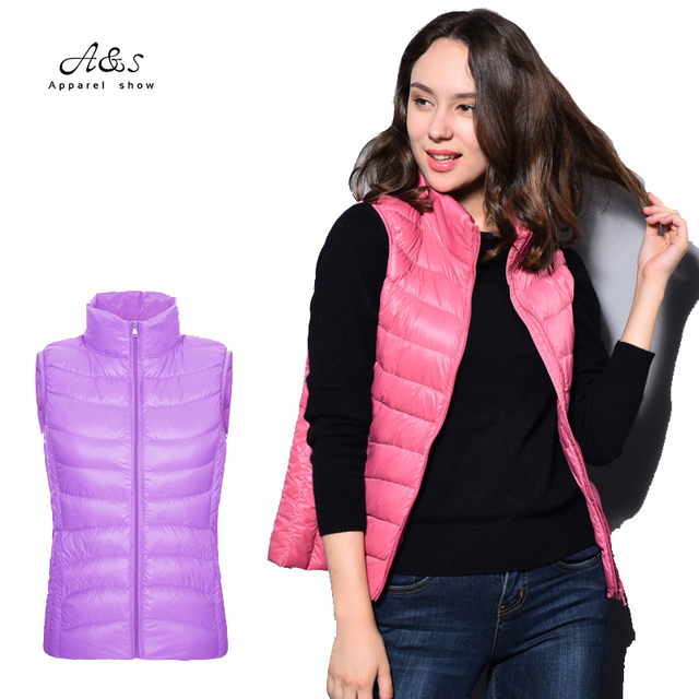 Oversized 15 Colors Free Shipping New Fashion Winter 2017 Womens Plus Size Down Vest  Coats And Jackets Women Winter Clothing
