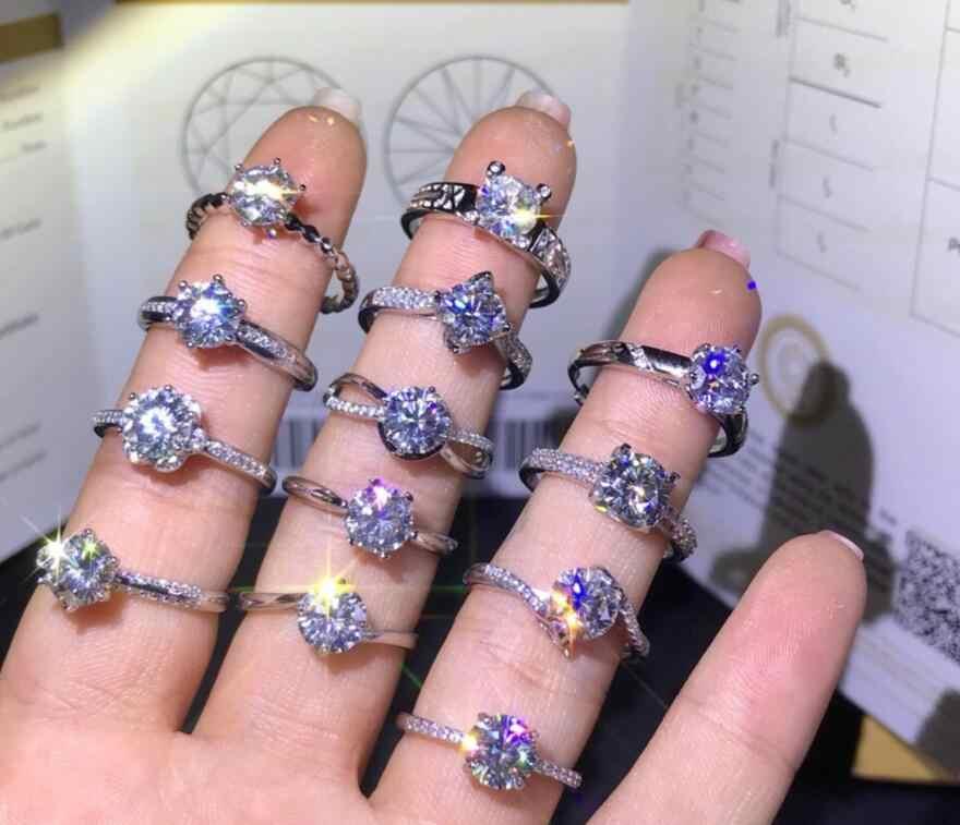 2019 แฟชั่นคริสตัลรักแหวนทอง/เงินสีเครื่องประดับขายส่ง Dropshipping