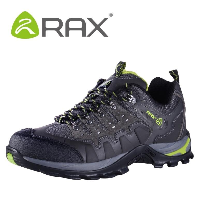 Men Waterproof Slip Resistant Hiking Shoes Women Comfortable Genuine Leather Climbing Shoes Unisex Mountain Sneaker AA52301