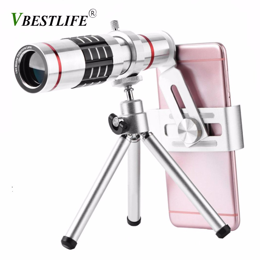 VBESTLIFE Cell <font><b>Phone</b></font> camera <font><b>Lens</b></font> telescope Kit Universal 18X Optical <font><b>Zoom</b></font> <font><b>Lens</b></font> with Aluminum Alloy Tripod for iphone smartphone
