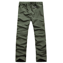 Men Quick Dry Pants 2017 New Men Pants Removable Straight Pants Quick Dry Breathable Trousers