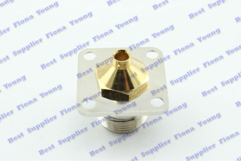 5 pcslot Nickle-plated N Female Flange for RG402 cable RF connector Free Shipping
