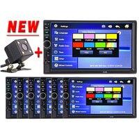 2 Din Car Multimedia Video Player Bluetooth Stereo FM Radio MP4 MP5 Audio Steering Wheel Auto