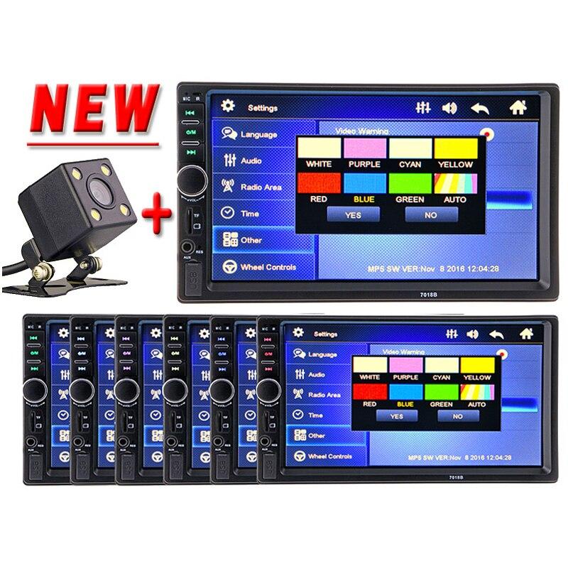 imágenes para 2 Din Coche Multimedia Reproductor de Vídeo Bluetooth Estéreo FM Radio MP4 MP5 Audio volante Auto Electrónica 2din autoradio NO DVD