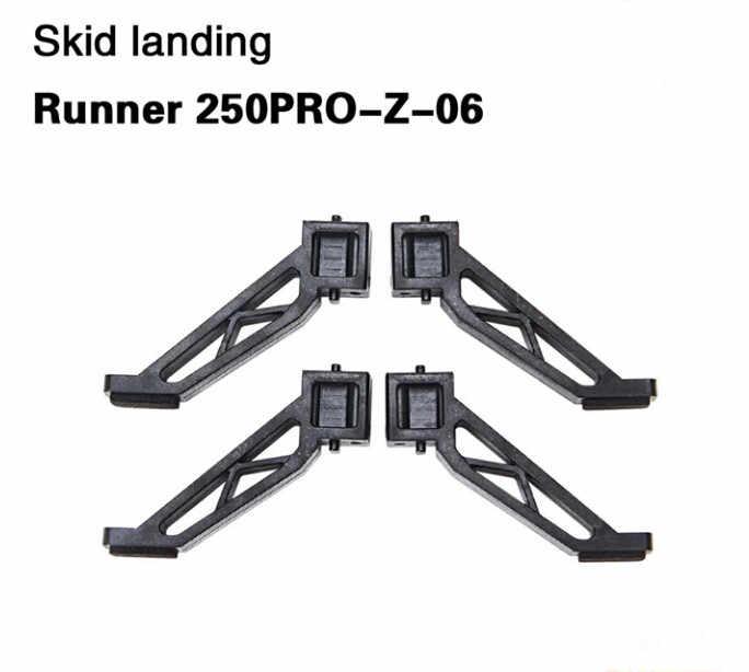 4 stks/partij Walkera Skid Landingsgestel Runner 250PRO-Z-06 voor Walkera Runner 250 PRO GPS Racer Drone RC Quadcopter F19864