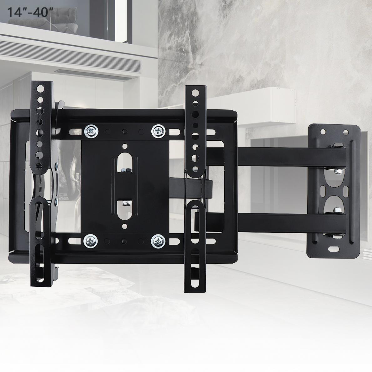 25 kg Télescopique Réglable 14-40 pouce TV Support Mural À Écran Plat TV Support de Cadre 15 Degrés Tilt pour LCD LED Moniteur