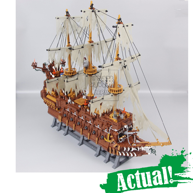 Lepin 16016 Pirates The Flying Dutchman 3652Pcs Building Blocks Bricks Educational DIY Toys Model for children Christmas Gifts new lepin 16009 1151pcs queen anne s revenge pirates of the caribbean building blocks set compatible legoed with 4195 children