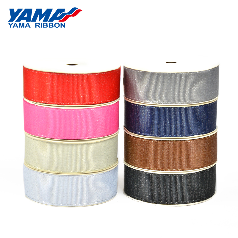 "YAMA Silver Purl Grosgrain Ribbon 3mm 1/8"" inch 350yards/roll for Diy Wedding Decoration Handmade Rose Flowers Crafts Gifts"