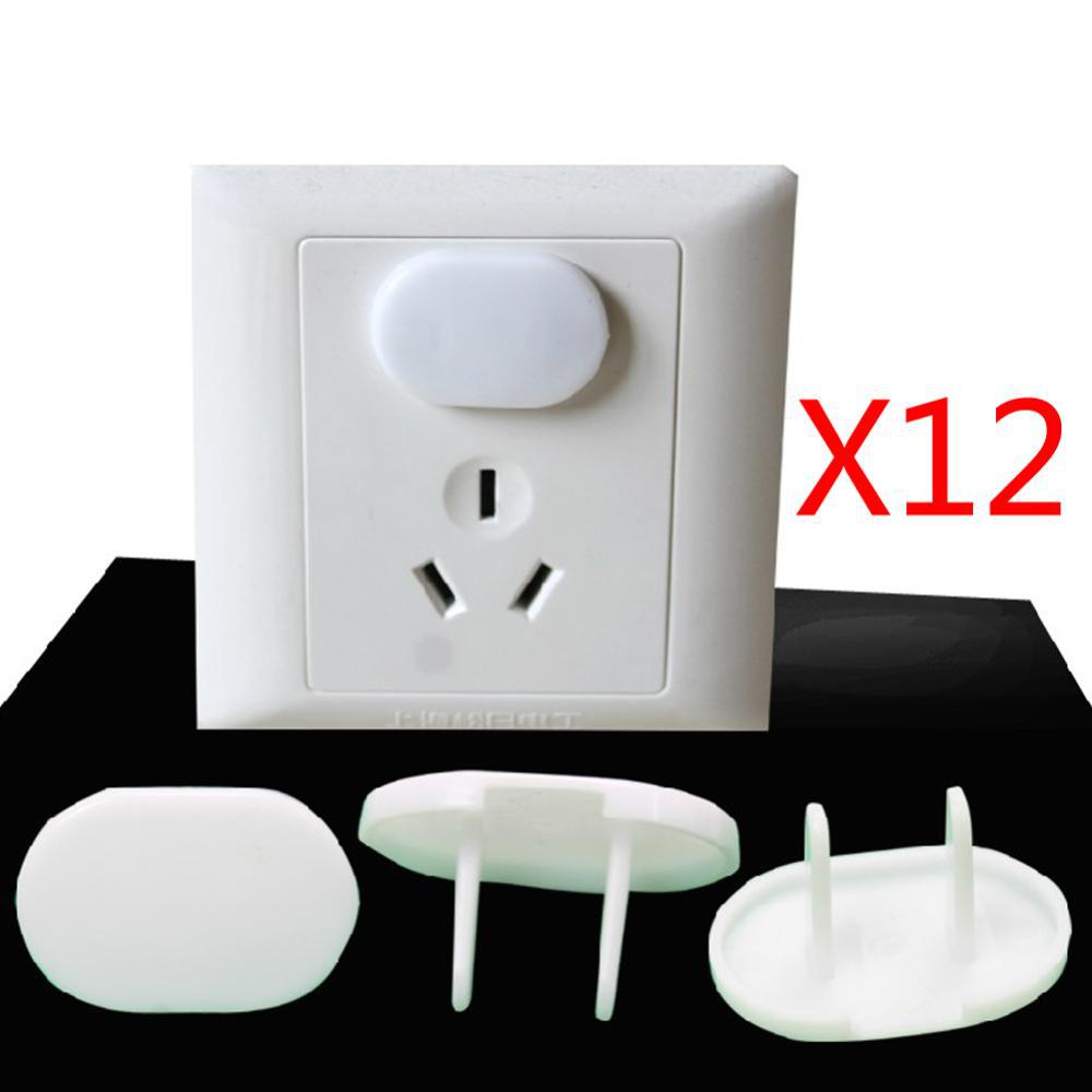12pcs/Lote 2015 New Kids Child Safety Socket Baby Socket Protective Cover Protection Outlets Plug For Electrical Outlets 2 Hole