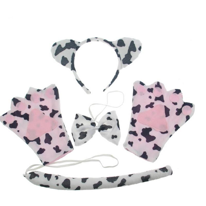 ⃝2018 vaca leche animal oído diadema arco cola patas apoyos del ...