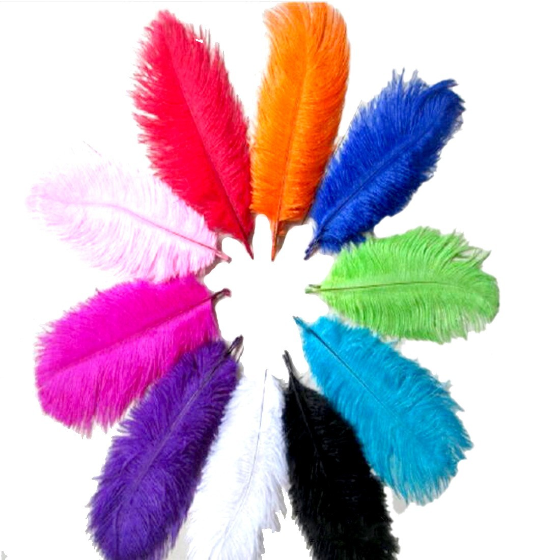 Hot Sale 10pcs Beautiful Ostrich Feathers For DIY Jewelry Craft Making Wedding Party Decor Accessories Wedding Decoration