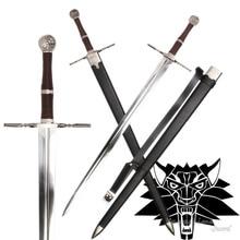 Средневековый меч из нержавеющей стали для видеоигры The witcher3: Дикая Охота Реплика Геральт Rivia Blade абсолютно новый без острых поставок