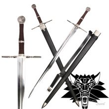 Medieval Sword Stainless Steel For Video Game The witcher3:Wild Hunt Replica Geralt of Rivia Blade Brand New No Sharp Supply