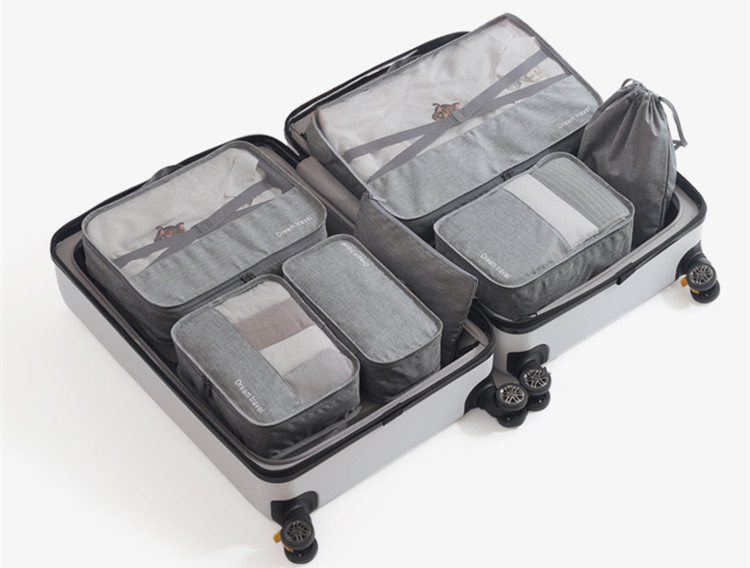 Reusable Waterproof Packing Cubes Set, 7 Pcs