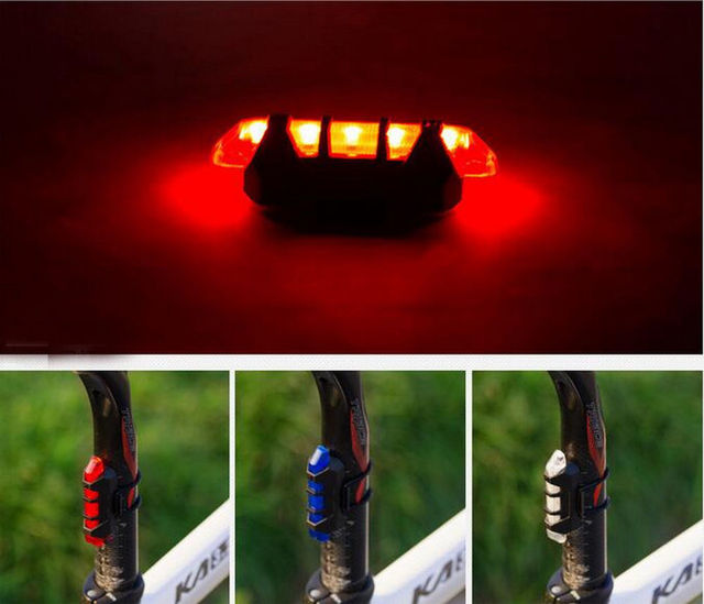 Hot Selling USB Rechargeable Bike LED Tail Light Bicycle Safety Cycling Warning Rear Lamp Free Shipping
