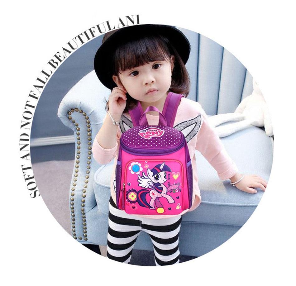 My little pony School bags for Toddler Kids Cute Children Mini Hello Kitty schoolbag Cartoon orthopedic Backpack for boys girls (12)
