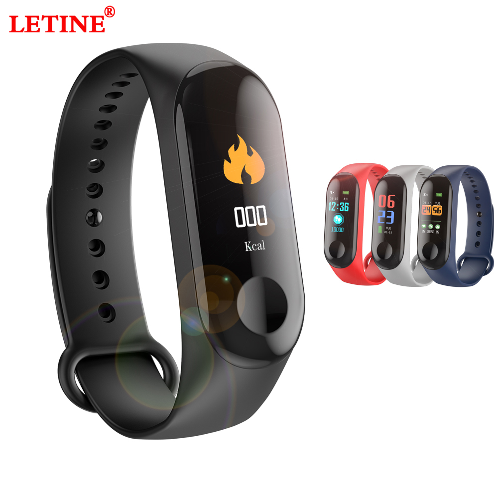 Fitness Tracker Bracelet Watch IP68 Waterproof Heart Rate Blood Pressure Blood Oxygen Monitoring Color Screen Smart Wristband