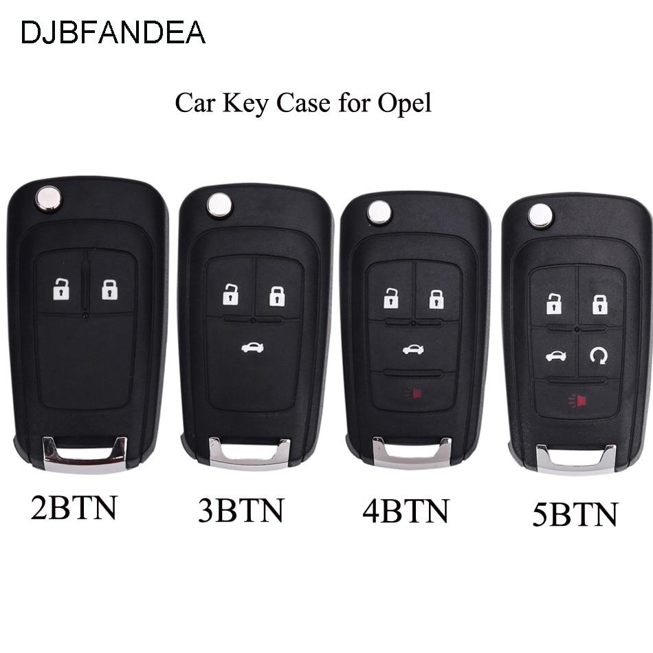 DJBFANDEA Folding Car Key Shell Remote Flip Key Fob Case For Opel Vauxhall Astra H Insignia J Vectra C Corsa D Zafira G