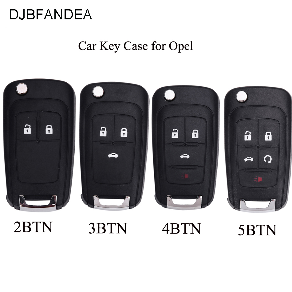 DJBFANDEA Folding Car Key Shell Remote Flip Key Fob Case For Opel Vauxhall Astra H Insignia J Vectra C Corsa D Zafira G cyan soil bay 2pcs 12v smd 3528 white light 18 leds license plate lamp for vauxhall opel astra corsa c d astra h j zafira b